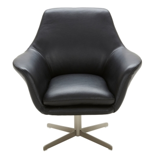 Ucello Leather Swivel Chair