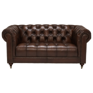 Ullswater Leather 2 Seater Chesterfield Sofa