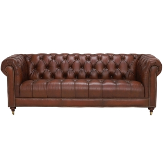 Ullswater 3.5 Seater Chesterfield Sofa, Vintage Tabac