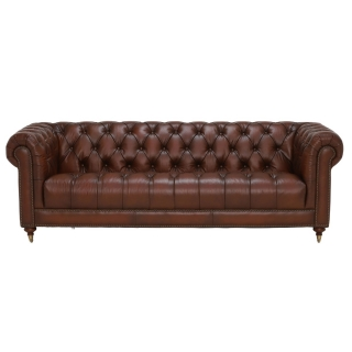 Ullswater 4 Seater Chesterfield Sofa, Vintage Tabac