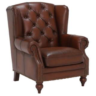 Ullswater Wing Chair, Vintage Tabac