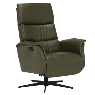 Vern Large Electric Recliner Chair, Hunter Green