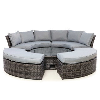 Valencia Lifestyle Garden Suite in Grey Weave with Grey Fabric