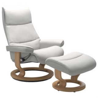 Stressless View Classic Chair & Stool, Choice of Leather