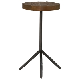 Keeler Benny Reclaimed Small Side Table, Rusic Grey