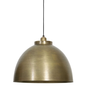 Brass Dome Pendant, Brushed Brass