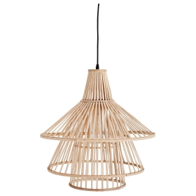 Tiered Bamboo Pendant, Natural