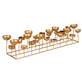 Multi Cup Tealight Holder, Gold