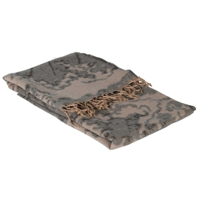 Grey Abstract Throw