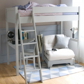 Pippin Childrens Highsleeper with Futon And Corner Desk
