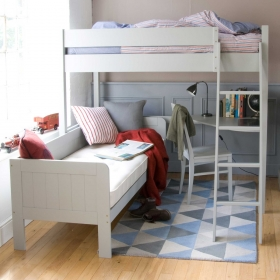 Pippin Childrens Highsleeper with Sofabed And Corner Desk