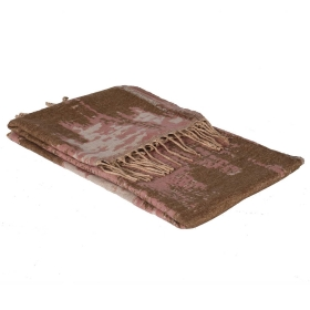 Pink Abstract Throw