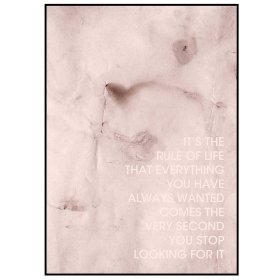 The Rule Of Life Framed Print