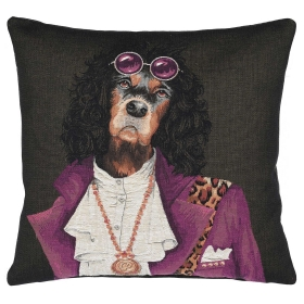 Spaniel With Glasses Cushion