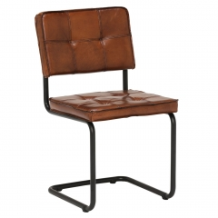 Byron Leather Dining Chair, Light Brown