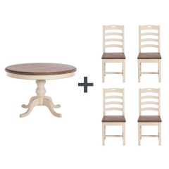 Carisbrooke Round Dining Table & 4 Chairs