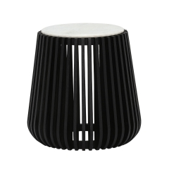 Nero Side Table, White Marble