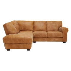 New Houston Left Hand Facing Leather Chaise Sofa