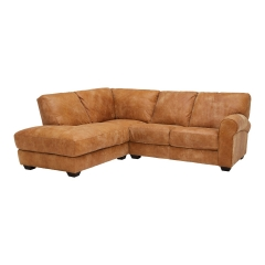 New Houston Large Left Hand Facing Leather Chaise Sofa