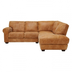 New Houston Right Hand Facing Leather Chaise Sofa