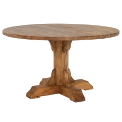 Covington Reclaimed Wood Round Dining Table