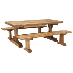 Covington Dining Table and 2 Benches