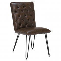 Smyth Upholstered Dining Chair, Brown