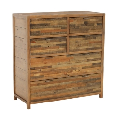 Charlie Reclaimed Wood 6 Drawer Chest Cabinet