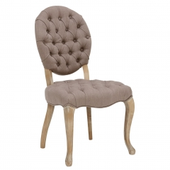 Lubiana Upholstered Dining Chair, Taupe