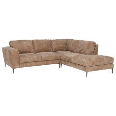 New Troy Right Hand Facing Leather Chaise Sofa