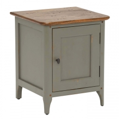 Maison Left Hand 1 Door Bedside, Albany and Moss Grey