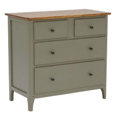 Maison 4 Drawer Chest, Albany and Moss Grey