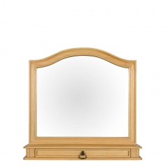 Lille Wooden Gallery Mirror, Natural Mindi