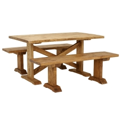 Newsham Dining Table and 2 Benches