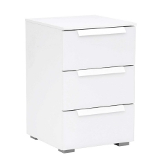 Atlanta 3 Drawer Bedside, Choice of colours