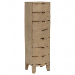 Rye Reclaimed Wood Tall 7 Drawer Chest