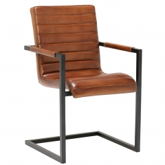 Brutus Buffalo Leather Dining Chair, Brown