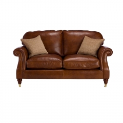 Parker Knoll Meredith Leather Large 2 Seater Sofa, London Saddle