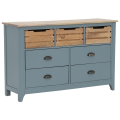 Craster Large Chest Of Drawers, French Grey