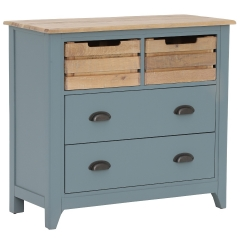 Craster Small Chest Of Drawers, French Grey