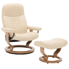 Stressless Consul Classic Chair & Stool, Choice of Batick Leather