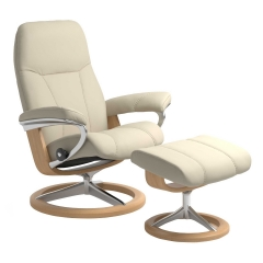 Stressless Consul Signature Chair & Stool, Choice of Leather