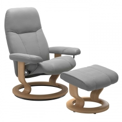 Consul Large Classic Chair and Stool, Quickship