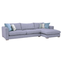 Fontella Large Right Hand Facing Chaise, Tabby Pool With Foam Interiors