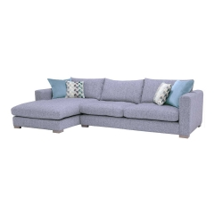 Fontella Large Left Hand Facing Chaise, Tabby Pool With Foam Interiors