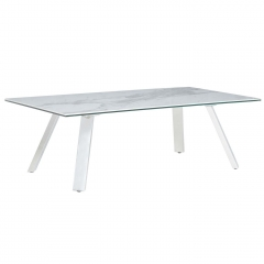 Ginostra Coffee Table, White Marble