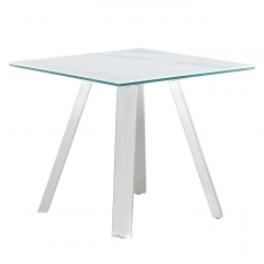 Ginostra Lamp Table, White Marble