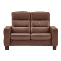 Stressless Wave High Back 2 Seater Sofa, Leather