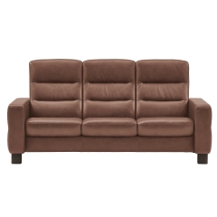 Stressless Wave High Back 3 Seater Sofa, Leather