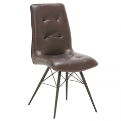 Hix Upholstered Dining Chair, Brown